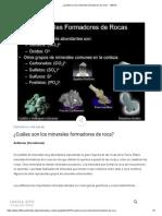 2.- Minerales Formadores de Rocas