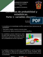 Elementos de Probabilidad y Estadísticas