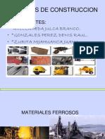 Materiales de Construciion Ferrosos y No Ferrosos