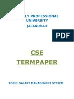 Salary Management System