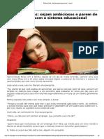 Dica Aos Jovens- Sejam Ambiciosos e Parem de Perder Tempo Com o Sistema Educacional Convencional
