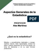 Aspectos Generales de La Estadística