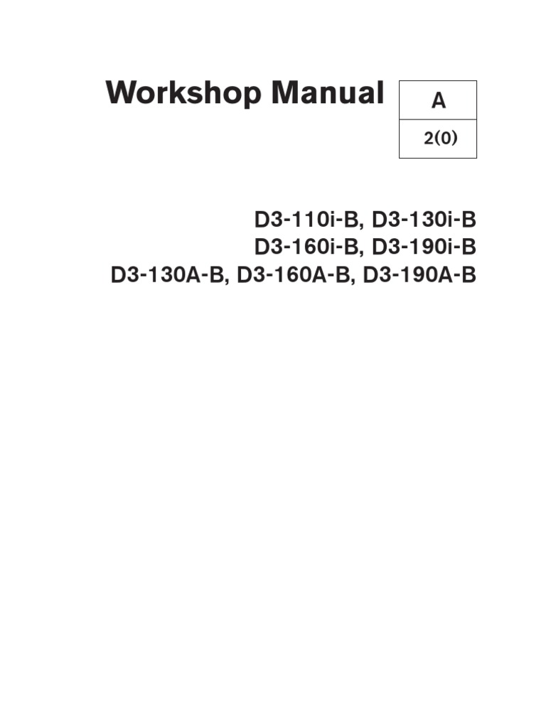volvo penta d3 workshop manual internal combustion engine motor oil rh scribd com volvo penta d3 190 service manual Volvo Penta Controls