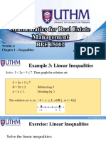 BPE 15002 - Week 2 (Inequalities)