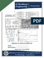PM II(Practical Journal)
