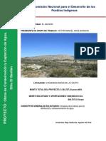 Proyecto Para Obras de Captacion de Agua Comunidad Indigena La Huerta