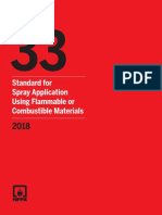 NFPA 33-2018-Std, Spray App Using Flambl or Comb Matrls