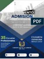 REGLAMENTO DE ADMISION PREGRADO Examen CEPREUNA.pdf