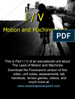 Motion and Machines Unit Part I