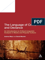 Andrea Mayr_ David Machin - The Language of Crime and Deviance_ an Introduction to Critical Linguistic Analysis in Media and Popular Culture-Continuum (2011)
