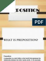 Preposition Report