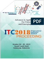 A International Technical Conference Itc2018