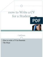 how to write cv for student