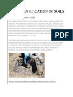 Field Identification of Soils