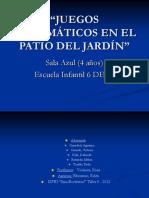 Juegos Matematicos en El Patio. Power Point Taller 5
