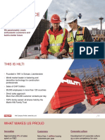 Pt Hilti - Company Profile - Approval Chemical Anchor