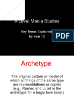 A Level Mediastudies Keyterms