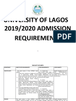 2019 2020 Admission Requirements