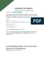 Teorema Fundamental Del Algebra