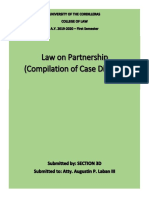 Partnership case digests