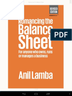 Romancing the Balance Sheet (Anil Lamba)