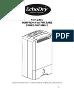 EchoDry dehydrater user manual Swedish