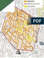Plan de la future zone 30 de la ville d'Amiens