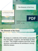 Literature Papers - Elements of the Essay