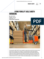 Calculating Forklift Aisle Width Minimums