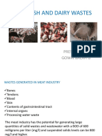 Meat, Fish and Dairy Wastes