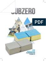 Catalog Subzero Insulated Sandwich Panel