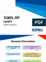 TOEFL Itp Level 2