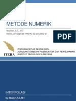 40746_Metode Numerik - Interpolasi