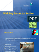 ARAMCO-Welding Inspector Duties
