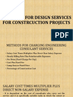 Charging for Design Services for Constrcuction Projects