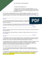Instrução Normativa Nº 46 de 06 de Outubro de 2011 (Produção Vegetal e Animal) - Regulada Pela in 17-2014)