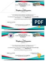 Certificate- Quarterly Recognition 1st Sem
