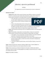 Resumen Legislación y Ejercicio Profesional - UdeMM 1er Parcial 2019