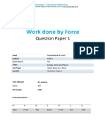 work done by force question paper and answer