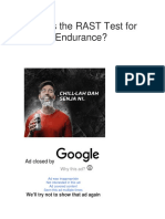What is the RAST Test for Speed Endurance