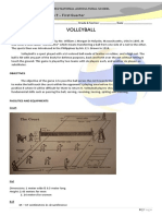Volleyball Handouts for Grade 9