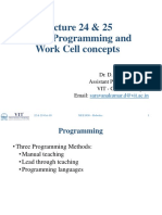 Lecture 24 25 - Robot Programming and Work Cell Concepts