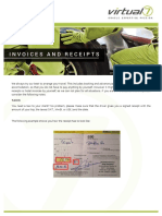 Invoices and Receipts for Travel