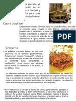 Court Bouillon Glosario