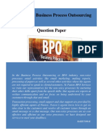 Non-Voice BPO Question Paper