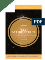 108 Printable Positive  Affirmations PDF