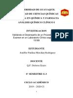 Analisis Clinico I