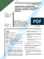 NBR 05401 - Componentes e equipamentos eletronicos - Ensaios de ambiente e resistencia mecanica -.pdf