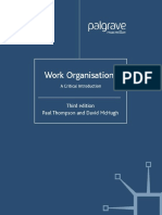 Thompson Work Organisations a Critical Introduction (3rd Ed)