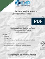 Manipulação de Medicamentos e Cálculos Farmacêuticos